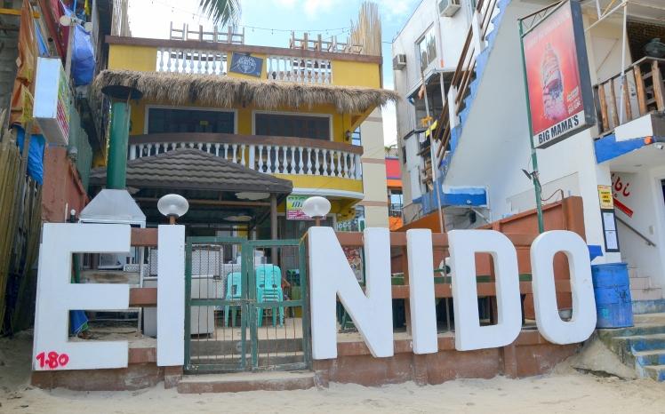 15 (El Nido sign)